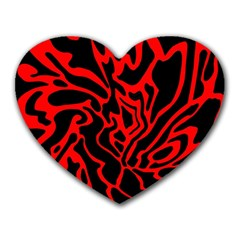 Red and black decor Heart Mousepads