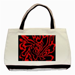 Red and black decor Basic Tote Bag (Two Sides)