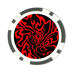 Red and black decor Poker Chip Card Guards
