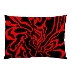 Red and black decor Pillow Case