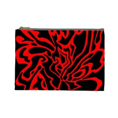 Red and black decor Cosmetic Bag (Large)