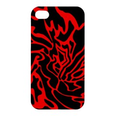 Red and black decor Apple iPhone 4/4S Hardshell Case