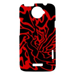 Red and black decor HTC One X Hardshell Case
