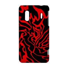 Red and black decor HTC Evo Design 4G/ Hero S Hardshell Case