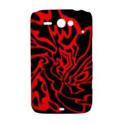 Red and black decor HTC ChaCha / HTC Status Hardshell Case