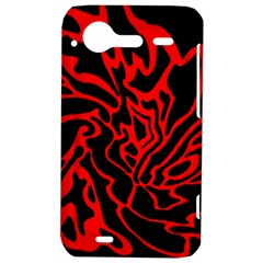Red and black decor HTC Incredible S Hardshell Case