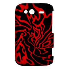Red and black decor HTC Wildfire S A510e Hardshell Case