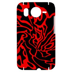 Red and black decor HTC Desire HD Hardshell Case