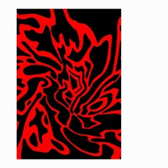 Red and black decor Small Garden Flag (Two Sides)