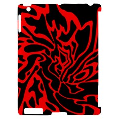 Red and black decor Apple iPad 2 Hardshell Case (Compatible with Smart Cover)