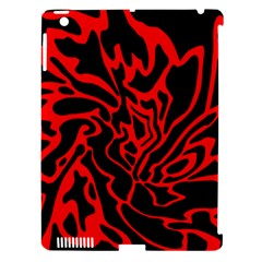 Red and black decor Apple iPad 3/4 Hardshell Case (Compatible with Smart Cover)