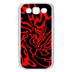 Red and black decor Samsung Galaxy S III Case (White)