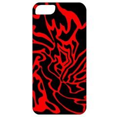 Red and black decor Apple iPhone 5 Classic Hardshell Case
