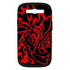 Red and black decor Samsung Galaxy S III Hardshell Case (PC+Silicone)
