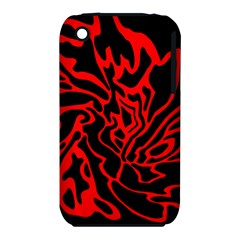 Red and black decor Apple iPhone 3G/3GS Hardshell Case (PC+Silicone)