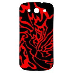 Red and black decor Samsung Galaxy S3 S III Classic Hardshell Back Case