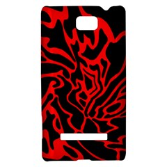 Red and black decor HTC 8S Hardshell Case