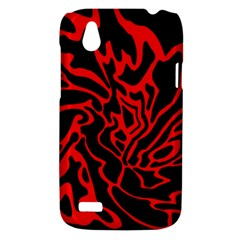Red and black decor HTC Desire V (T328W) Hardshell Case