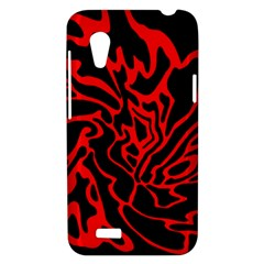 Red and black decor HTC Desire VT (T328T) Hardshell Case