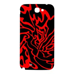 Red and black decor Samsung Note 2 N7100 Hardshell Back Case