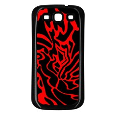 Red and black decor Samsung Galaxy S3 Back Case (Black)