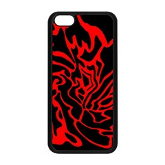 Red and black decor Apple iPhone 5C Seamless Case (Black)