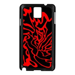 Red and black decor Samsung Galaxy Note 3 N9005 Case (Black)