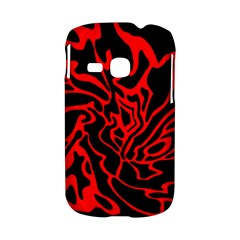 Red and black decor Samsung Galaxy S6310 Hardshell Case