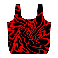 Red and black decor Full Print Recycle Bags (L)