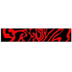 Red and black decor Flano Scarf (Large)
