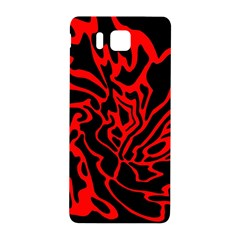 Red and black decor Samsung Galaxy Alpha Hardshell Back Case
