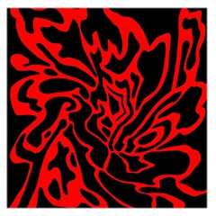 Red and black decor Large Satin Scarf (Square)