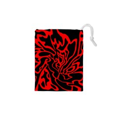Red And Black Decor Drawstring Pouches (xs)