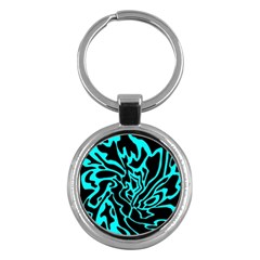 Cyan decor Key Chains (Round)