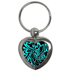 Cyan decor Key Chains (Heart)
