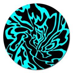 Cyan decor Magnet 5  (Round)