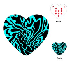 Cyan decor Playing Cards (Heart)