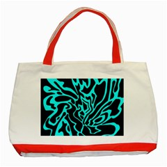 Cyan decor Classic Tote Bag (Red)