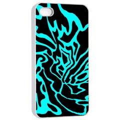 Cyan decor Apple iPhone 4/4s Seamless Case (White)