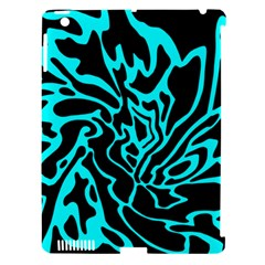 Cyan decor Apple iPad 3/4 Hardshell Case (Compatible with Smart Cover)