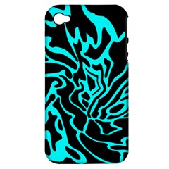 Cyan decor Apple iPhone 4/4S Hardshell Case (PC+Silicone)