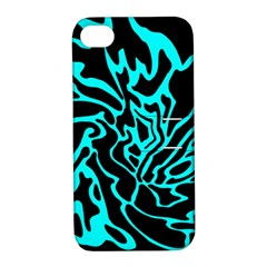 Cyan decor Apple iPhone 4/4S Hardshell Case with Stand