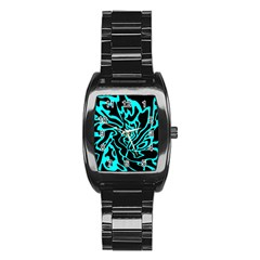 Cyan decor Stainless Steel Barrel Watch
