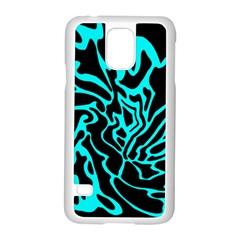 Cyan decor Samsung Galaxy S5 Case (White)