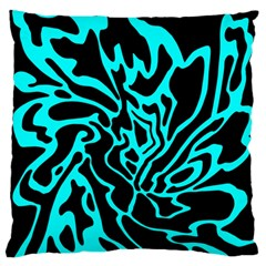 Cyan decor Large Flano Cushion Case (Two Sides)
