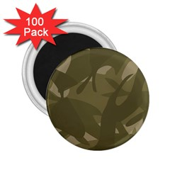 Green Camo Pattern 2.25  Magnets (100 pack)