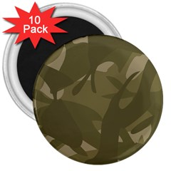 Green Camo Pattern 3  Magnets (10 pack)