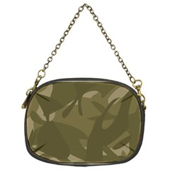Green Camo Pattern Chain Purses (Two Sides)