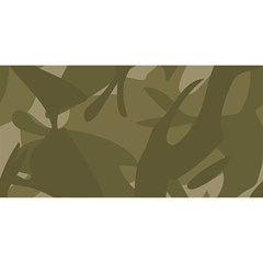 Green Camo Pattern YOU ARE INVITED 3D Greeting Card (8x4)