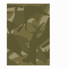 Green Camo Pattern Small Garden Flag (Two Sides)